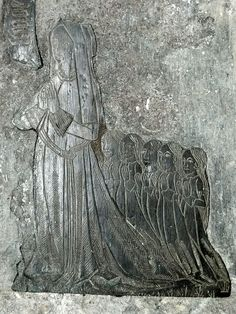 Cottisford, Oxfordshire. John Samewell, c1500, and wife and children.