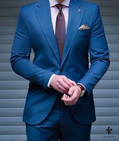 Blue Blazer Outfit Men, Blazer Outfits Men, Mens Fashion Suits, Mens Suits, Blue Suit Men, Blue Suits, Suit Combinations, Men Dress Up, Mode Costume