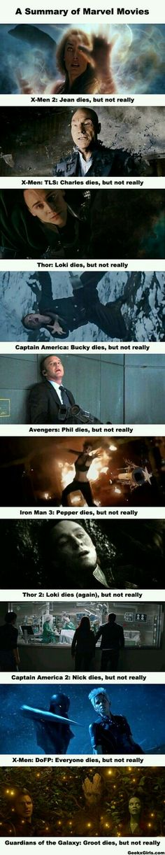 Marvel: where everyone dies, but not really.