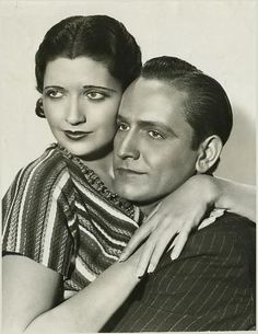 Fredric March and Kay Francis  he's prettier the her  lol