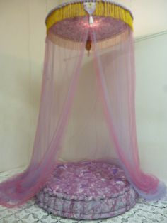 Dossel e Futon  (branco,lilás,pink,verde)