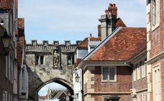 Part of the old castle wall in Salisbury, England.