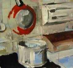 "Saatchi Art Artist Jan Valer; Painting, ""Still life #6 (pan and pot)"" #art"