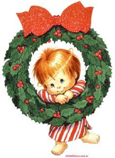CHRISTMAS BABY AND WREATH