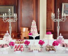 Pink Velvet Dream Candy Buffet
