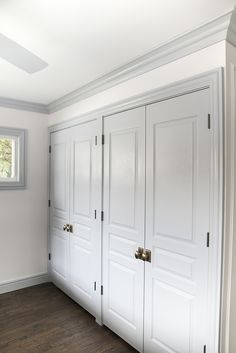 Double Closet with French Doors