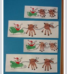 Santa's sleigh painting - using our hands and feet