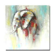 Abstract Acrylic Painting On Canvas Abstract Acrylic Painting On . Painting Techniques Canvas, Easy Canvas Painting, Abstract Canvas Art, Oil Painting Abstract, Canvas Wall Art, Elephant Wall Art, Abstract Animals, Animal Paintings, Oil Paintings