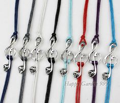 Musical Note bracelet Skull Bracelet with Color by happygarden999, $1.59