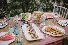 Recipes for Valentine's Day Girls Brunch & a super cute table setting! Check out our serving trays and bowls to complete this look! http://marylandplastics.com/mdpsite/cateringplasticware.html