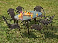 Conjunto de Mesa com 6 Cadeiras Kalahari - Mor com as melhores condições você encontra no Magazine Mcostadesouza. Confira!