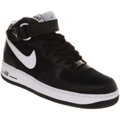 89fdee595a94 Nike Air force 1 mid white white ( 115) found on Polyvore