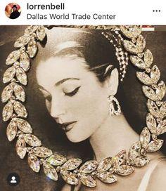 a tempting garland of Swarovski Crystals by Lorren Bell. Hair Ornaments, Costume Jewelry, Garland, Swarovski Crystals, Chain, Diamond, Fashion, Hair Decorations, Fashion Styles