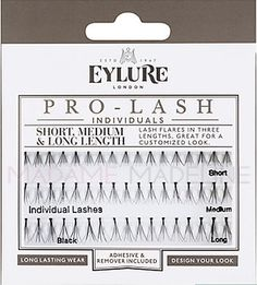 Eylure PRO-LASH Individuals Combo pack contain lash clusters from short to medium to long giving you the option to create a customized look from subtle, dramatic to glamourous.  #eylure #lashes #madamemadeline