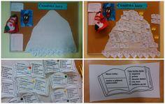 Čtenářská hora, kam věšíme všechny naše přečtené knihy. Děti si knihy zapisují i do čtenářských deníků.