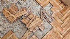 Como colar tacos de madeira soltos