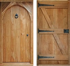 External solid oak doors - great optical illusion of an arch