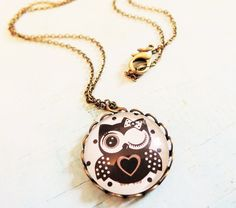 Jewellery+tiny+little+owl+necklaces+twinkle+star++from+Madame+Butterfly+JEWELLERY+by+DaWanda.com