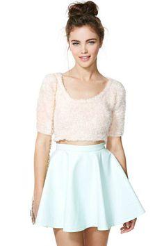 Nasty Gal High Shine Skirt