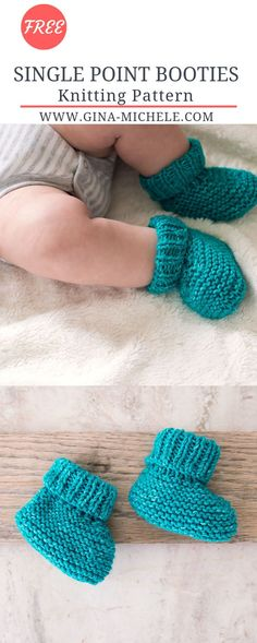 FREE knitting pattern for these Single Point Baby Booties. Great for beginners! FREE knitting pattern for these Single Point Baby Booties. Great for beginners!,Knitting Patterns FREE knitting pattern for these Single Point Baby Booties. Beginner Knitting Patterns, Easy Knitting Projects, Knitting For Beginners, Knit Patterns, Free Knitting, Doll Patterns, Baby Knitting Patterns Free Newborn, Knitting For Kids, Knitting Designs