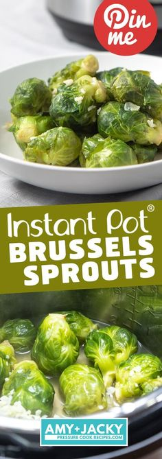 Cook this nutrient-dense superfood Instant Pot Brussels Sprouts! Perfectly cooked Brussels sprouts make a super quick & easy healthy Instant Pot Side Dish. Instant Pot Pressure Cooker, Pressure Cooking, Pressure Cooker Meals, Slow Cooker, Instant Pot Veggies, Cooking Recipes, Healthy Recipes, Cooking Games, Cooking Classes