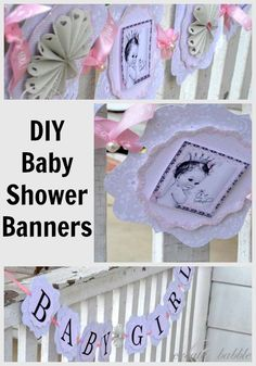 DIY Baby Shower Banner made with my Silhouette from createandbabble