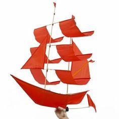 Sailing Ship Kite - Flame
