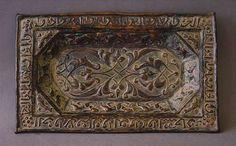 A KHORASSAN Repoussé bronze tray-Hammer (EUR)1200