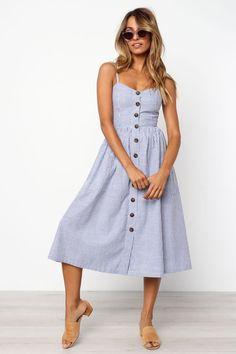 7e0d577b1ff0 Romono Dress - Blue Summer Dresses
