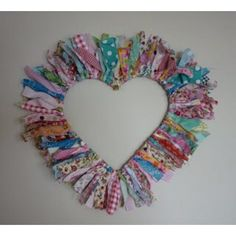 Old wire hangers and fabric wreaths