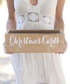 Another great find on #zulily! Rustic 'Christmas Cards' Holder #zulilyfinds