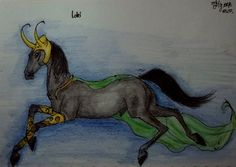 Eah, this is Loki in the form of a horse :D