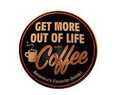 Cartel decorativo en chapa envejecida Coffee
