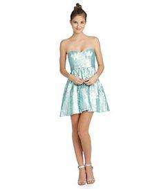 B. Darlin Strapless Sequin Party Dress | Dillard's Mobile