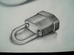 30 días dibujando: 06/30.  #Dibujo #drawing #pencil #art #padlock #locker #keys