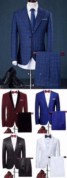 men suits 2017 -- Click Visit link for more info Sharp Dressed Man, Well Dressed Men, La Mode Masculine, Suit Shirts, Herren Outfit, Groom Wear, High Fashion, Men's Fashion, Blazer Fashion