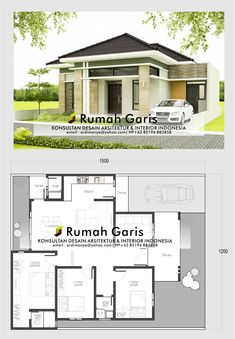 12 Tips for Contemporary Living Room Decoration Simple Bungalow House Designs, Modern Bungalow House, Duplex House Design, Small House Design, Dream Home Design, Simple House, Modern House Design, Modern House Floor Plans, Pool House Plans