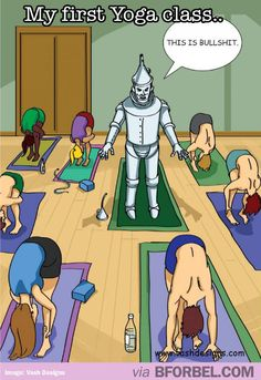 Me at my first yoga class…