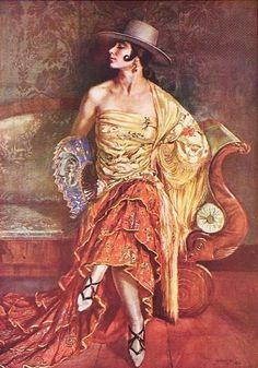 Flamenco Dancer Artwork By George Owen Wynne Apperley Oil Painting & Art Prints On Canvas For Sale Illustrations, Illustration Art, Art Espagnole, Spanish Art, Traditional Paintings, Sculpture, Figure Painting, Drawing, Figurative Art