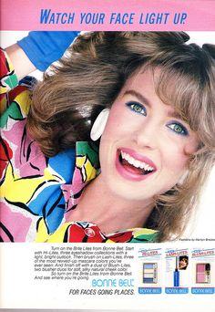 Bonne Bell cosmetics 1986 | Flickr - Photo Sharing! Vintage Makeup Ads, Retro Makeup, Vintage Beauty, Vintage Ads, Vintage Fashion, 90s Fashion, 1980s Makeup And Hair, Bell Cosmetics, Big Hair Bands
