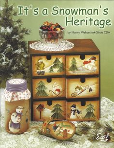 It's A Snowman's Heritage by Nancy Wekarchuk-Shute CDA Tole Painting Book by PhotographyByRoger on Etsy