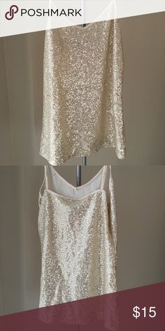Sparkly top Spaghetti strap, gold details. Good condition. Express Tops Tank Tops