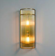 Aplique pared vintage 100cm varillas de cristal