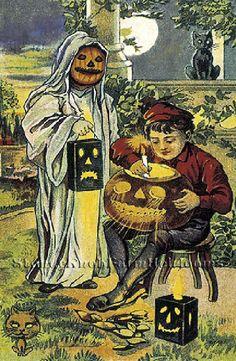 Trick or Treat ~ Vintage Halloween ~ Cross Stitch Pattern #StoneyKnobFarmHeirlooms #Frame