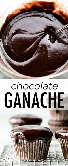 How to make EASY chocolate ganache with only 2 ingredients. You need real chocol… How to make EASY chocolate ganache with only 2 ingredients. You need real chocolate and warm heavy cream. Recipe and tutorial on sallysbakingaddic… Easy Chocolate Ganache, Homemade Chocolate, Chocolate Desserts, Easy Chocolate Recipes, Chocolate Ganche, Chocolate Lasagna, Chocolate Cherry, Chocolate Cream, Chocolate Cookies