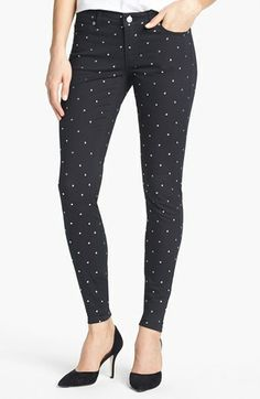 MICHAEL Michael Kors Studded Skinny Jeans available at #Nordstrom $120