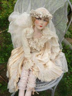 Antique French Boudoir Doll Paris Edwardian Wedding Fashion Doll C 1920   eBay