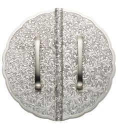 Ironmongery- Arabesque Silver handles by Biden Designs at David Seyfried