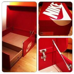 Nike shoe box shoe storage. I want to make one