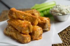 Buffalo tofu strips are the way to go! Throw in some Wildwood savory backed tofu and your favorite buffalo sauce #organicrecipes